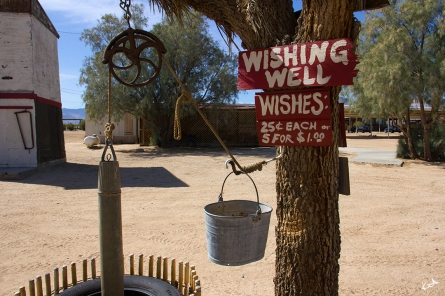 Ghost town wishing well